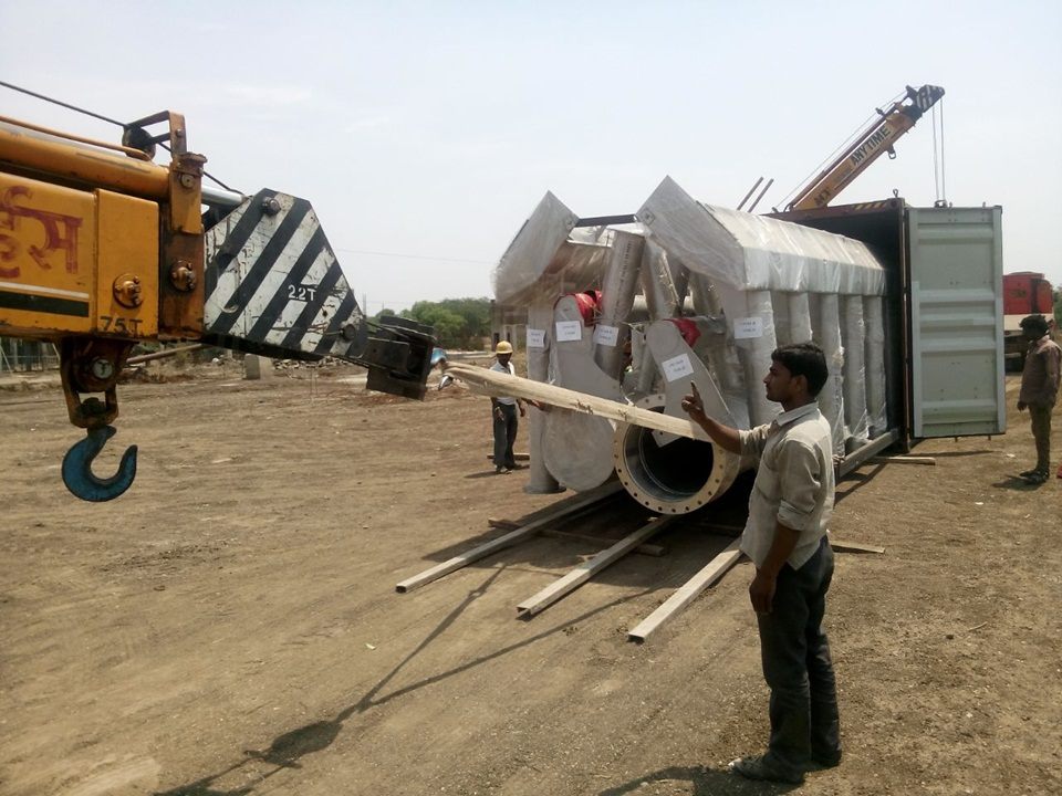 02.Mechanical Equipment Unloading at 161MLD STP