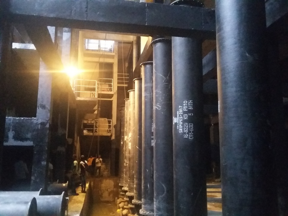 16.Internal Piping and Fittings Installation at 211MLD SPS