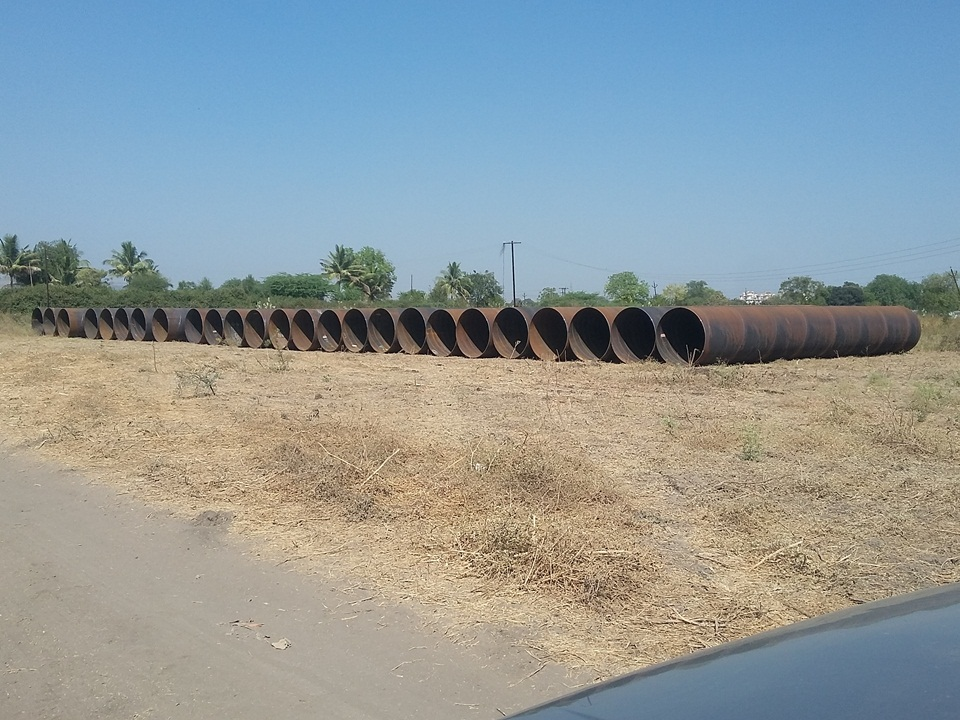 02. Stack 1626mm Dia M.S. Pipe for Gunating